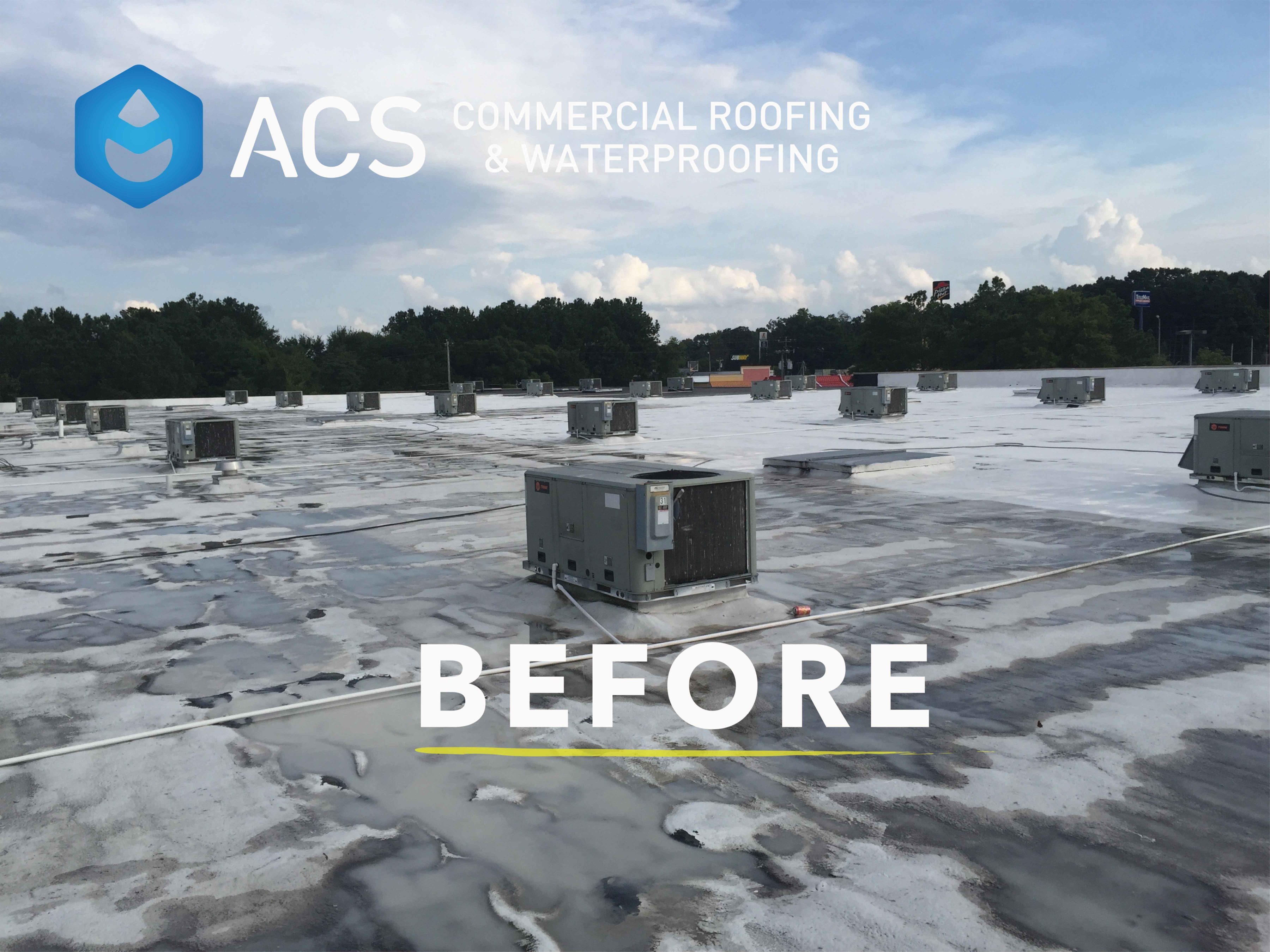 Commercial Roof Replacement   Before